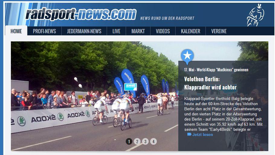 Radsportnews Titelseite