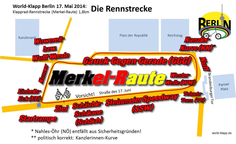 World-Klapp 2014 Lageplan Die Rennstrecke