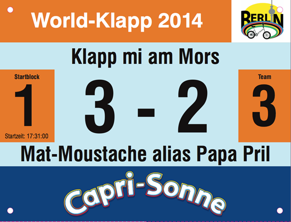 World-Klapp Startnummer