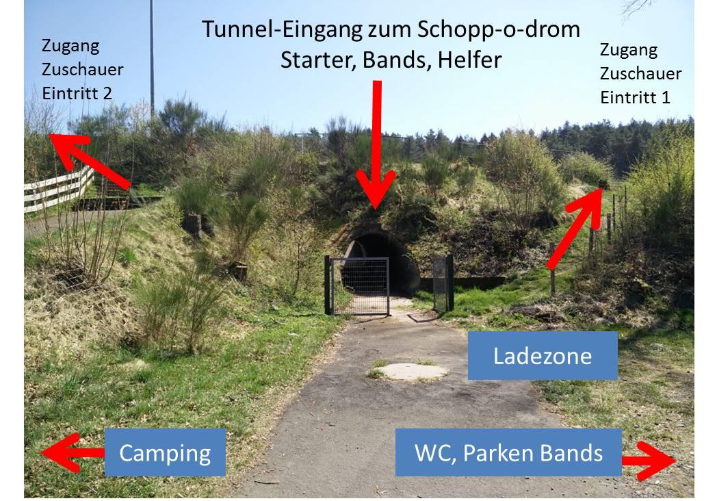 Tunnel-Eingang Schopp-o-drom