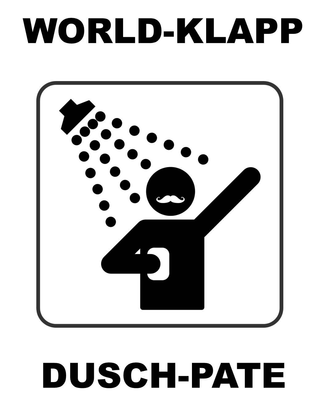 World-Klapp Dusch-Pate