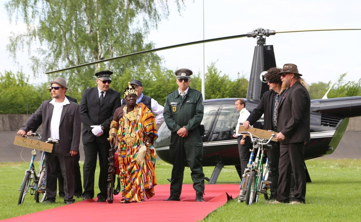 WORLD-KLAPP – 200 JAHRE KLAPPRAD – 11. JUNI 2017 IN MANNHEIM - Majestät KING TOGBUI NGORYIFIA CÉPHAS KOSI BANSAH ist Schirmherr der Veranstaltung